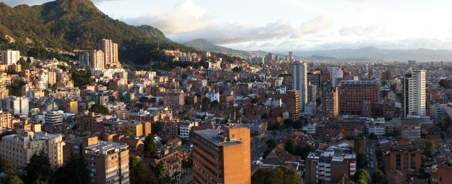 Panaromic view of Bogota